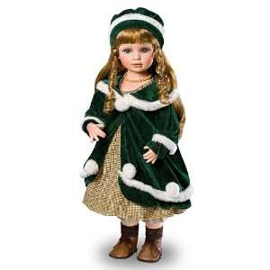 Heidi Anne Collectible Porcelain Vintage Style Doll by