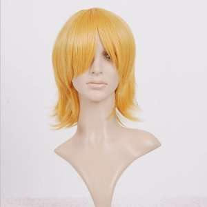Blonde Short Shoulder Length Anime Cosplay Wig Costume Toys & Games
