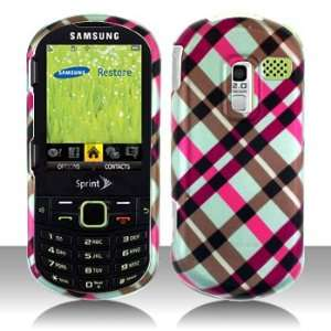 Premium   Samsung M570/Restore/R570/Messager III Hot Pink Plaid Cover