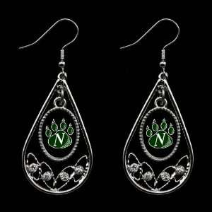 Bearcats Ladies Tear Drop Crystal Dangle Earrings