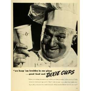 1945 Ad Dixie Cup Corporation Disposable Paper Cups Chef