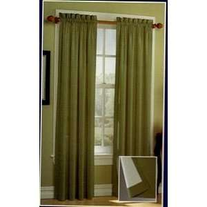 Cotton Duck Thermal Rod Pocket Curtain Set Olive Green