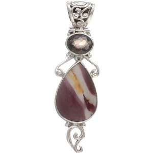 Pendant with faceted Smoky Quartz   Sterling Silver