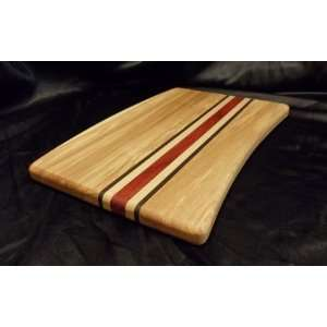 Shapely Ash Cutting Board w/Inlays   13.25x9.25:  Kitchen