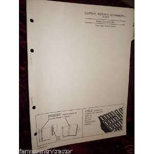 Deere P 107 Gyramor Rotary Cutter OEM Parts Manual: John Deere: Books