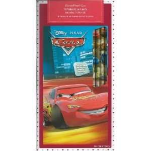 Disney Pixar Cars 16  Valentine Cards Includes 16 Pencils 4 Different