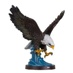 Hand Painted Eagle Sculpture