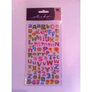 Sticko Fancy Alphabet Kids Stickers Arts, Crafts & Sewing