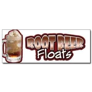 24 ROOT BEER FLOATS DECAL sticker rootbeer float mug