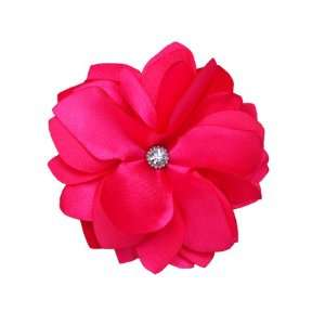 NEW Bright Hot Pink Flower Hair Clip/brooch Beauty