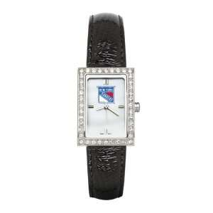 Allure Watch with Black Leather Strap