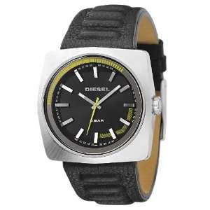 Diesel Analog Leather Strap Black Dial Mens Watch #DZ1301