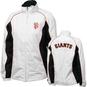 San Francisco Giants Womens White Full Zip Track Jacket