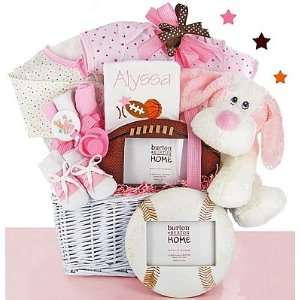 Classic All Star Baby Gift Basket Girl Baby