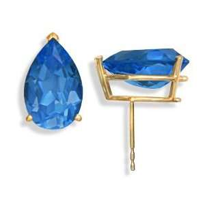 14KT London Blue Topaz Earrings Gold and Diamond Source