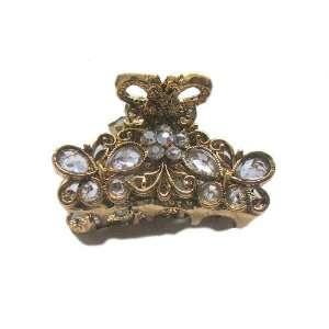 Austrian Crystal Rhinestone Metal Hair Clip Claw (GRAY) Jewelry