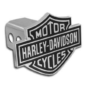 Harley Davidson Hitch Cover   Black/Chrome 1 1/4 Inch Size