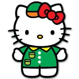 Hello Kitty car bumper sticker decal 3 x 5