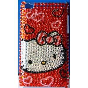 com Koolshop Hello Kitty Bling Rhinestone Red Heart iPod Touch 4 case