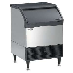 Ice cube maker with air cooled condenser, 165 Lbs/day