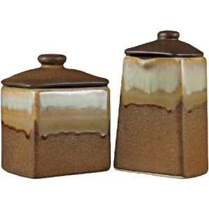 orange ceramic kitchen canister set on popscreen