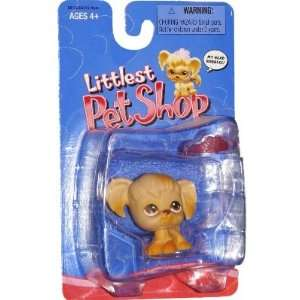 Littlest Pet Shop Cocker Spaniel Dog with Pink Crown Toys