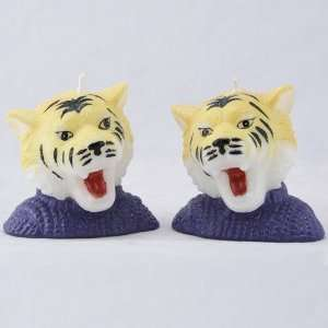 LSU Tigers 2 Piece Mascot Candle Set: Sports & Outdoors