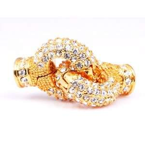 16mm ring 18K Yellow Gold Plated Lobster Lock Magnetic