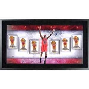 Michael Jordan Chicago Bulls Autographed Championship