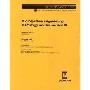 Microsystems Engineering Metrology and Inspection III, 23