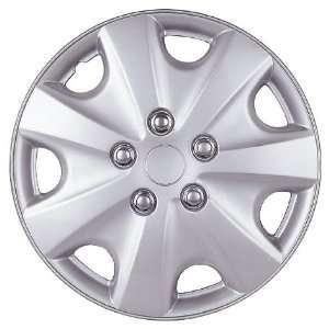14 Inch Plastic Wheel Cover, Silver Lacquer (Alloy Color): Automotive