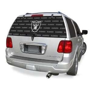Oakland Raiders NFL Logo Rearz Back Windshield Covering
