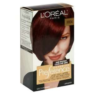 LOreal Preference Hair Color   #RR04 Intense Dark Red   1