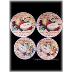 Tuscan Kitchen Fruit Burner Stove Covers / Wall Decor
