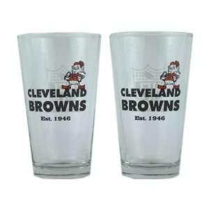 Cleveland Browns 1946 Vintage Pint Glass Set  Sports