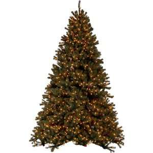 PRE LIT DIAMOND FIR CHRISTMAS TREE   7.5 TALL   CLEAR LIGHTS:
