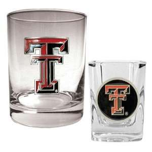 exas ech Red Raiders NCAA Rocks Glass And Sho Glass Se