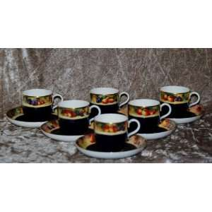Royal Worcester Coffee Set   Fruit Study by William Bee