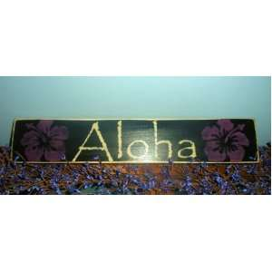 ALOHA Hawaii Shabby Country Chic Hawaiian Wood Sign Wall