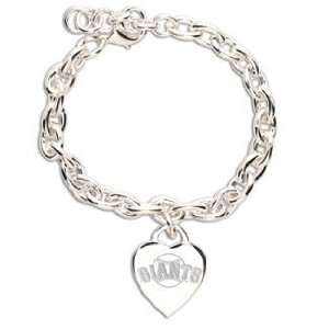 MLB San Francisco Giants Bracelet   Heart Charm