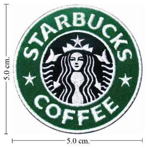 Starbucks Coffee Logo Embroidered Iron on Patch From Thailand