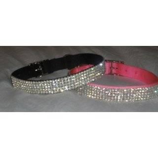 Large Pink Swarovski Crystal Rhinestone Dog Collar Fits 18 22 inch