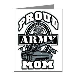 Note Cards (20 Pack) Proud Army Mom Tank