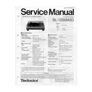 Technics Service Manual SL1200M3D Musical Instruments