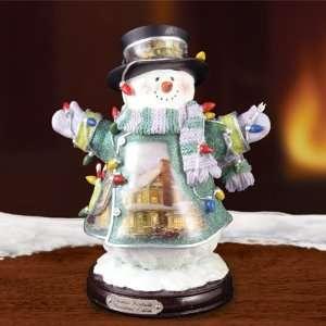 Thomas Kinkade Christmas Lights Snowman Issue #14