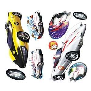 Speed Racer Decals  19 Race Cars Wall Stickers Set