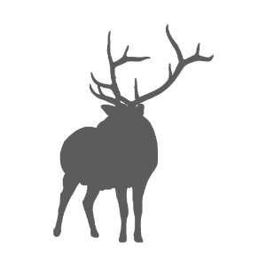 Deer DARK GREY Vinyl window decal sticker