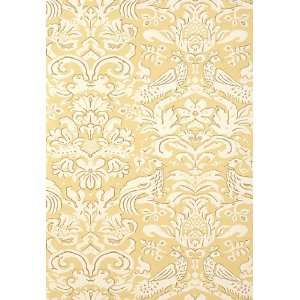 Aldwyn Damask Buttercup by F Schumacher Wallpaper Home Improvement