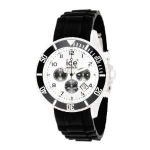 09 Chrono Collection Silver Dial Black Strap Watch Ice Watch Watches