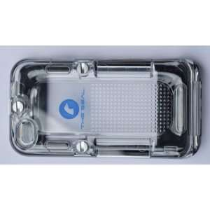 Iseal Black Ultra Waterproof Clear Case Housing for Apple Iphone 4/4s